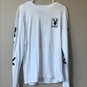 white playboy long sleeve